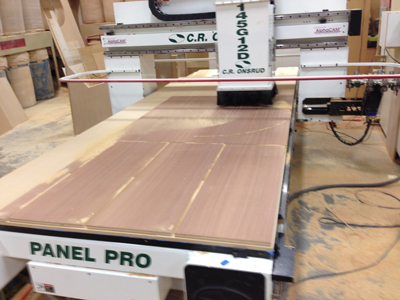 CNC cutting actual pieces of a tolman skiff wooden boat DIY kit